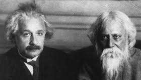 Albert Einstein with Rabindranath Tagore