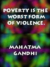 gandhipoverty