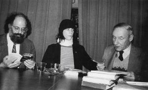 patti_allen ginsberg_william burroughs_gotham book mart, nyc