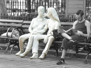 Christopher Park - Gay Liberation  sculptures de George Segal 3 nb (1)