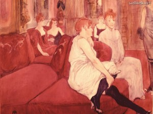 In-the-Salon-at-the-Rue-des-Moulins,-Toulouse-Lautrec
