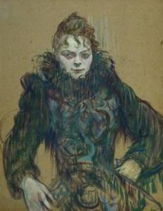 Woman with Black Feather Boa Henri de Toulouse Lautrec