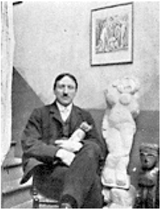 André_Derain,_photograph_published_in_Gelett_Burgess,_The_Wild_Men_of_Paris,_Architectural_Record,_May_1910,_sculpture-Nu_debout_(Standing_Woman),_1907
