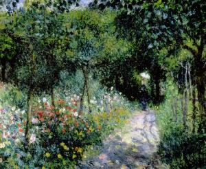 Reniorwoman-in-a-garden-pierre-auguste-renoir